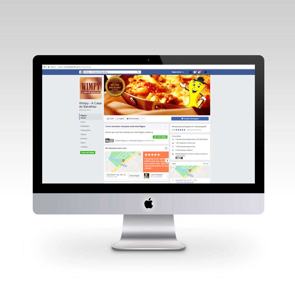 Facebook Wimpy - A Casa do Bacalhau